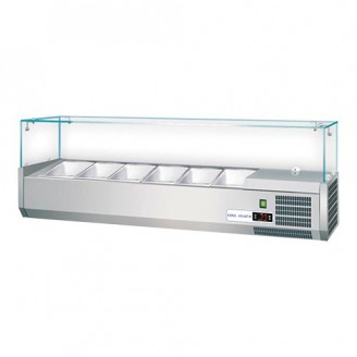 CaterCool opzetkoelvitrine - 6x 1/3 GN - glasopzet